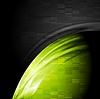 Grüner und schwarzer Kontrast Technologie Hintergrund