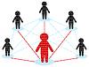 Netzwerkkommunikation. Business Team-Konzept.