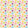 Colorful seamless pattern with  flowers and butterflies | Stock Illustration