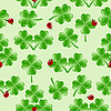 nahtlose Muster mit vier Blätter Klee