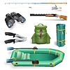 Fischerei und Jagd Objekte