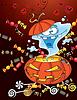 Halloween ghost karta | Stock Vector Graphics