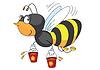 Biene und Honig
