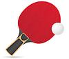 Schläger und Ball für Tischtennis Tischtennis