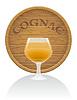 Holz und Glas Cognac Fass