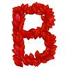 ID 3769791 | Buchstabe B der roten Blütenblätter Alphabet | Stock Vektorgrafik | CLIPARTO