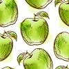 nahtlose Muster mit grünem Apfel