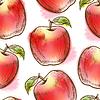 Nahtlose Muster mit roten Apfel