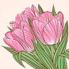 ID 3802640 | Floral Hintergrund mit Blüten von Tulpen | Stock Vektorgrafik | CLIPARTO