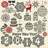 Weihnachten und Silvester-Design-Elemente