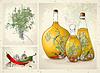 Gewürze, würzigen Kräutern, Olivenöl