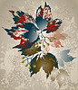Grußkarte mit wilden Trauben. Herbstliche Hintergrund