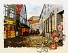 ID 3719716 | 빈티지 도시의 거리. 수채화 스타일 | 높은 해상도 그림 | CLIPARTO