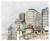 Aquarell Stadtbild