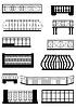 Balconies  | Stock Vector Graphics