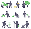 Landwirtschaft. Festlegen von Symbolen | Stock Vektrografik