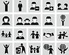 Set von Menschen-Icons