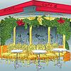 Skizze des Pariser Café