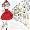 schöne Mode Mädchen Top-Modelle in Sommerkleidern