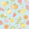 Nahtlose Muster mit Früchten und Beeren