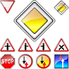 ID 3831222 | Set of road signs priority | 向量插图 | CLIPARTO