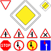 Set of road signs priority | Stock Vector Graphics