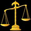 Gold Maßstab der Gerechtigkeit