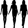 Silhouette fashion girls Topmodels