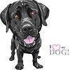 Lustige Cartoon schwarze Rasse Labrador Retriever | Stock Vektrografik