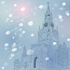 winter Christmas cityscape of Moscow Kremlin, Russia