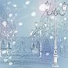 Winter Weihnachten Stadtansicht, avenue mit Vintage