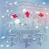 Weihnachten Winter Skizze Pariser Cafe
