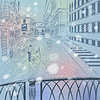 Winter Weihnachten Stadtbild mit Seufzerbrücke in V