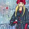 Winter Weihnachten Stadtbild mit Seufzerbrücke in