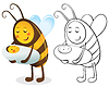 Bee Mutter und Kind