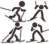 Langlauf-Icons