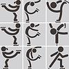 Eiskunstlauf-Icons