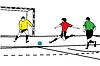 Sportler Fußball-Torwart schützt Gate