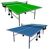 Ping pong blau und grün Tischtennis.
