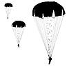 Skydiver, Silhouetten Fallschirmspringen