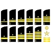 Vector clipart: Shoulder patches employees of Russian Navy