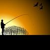 ID 3785281 | Fischer auf See | Stock Vektorgrafik | CLIPARTO