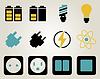 Elektrizität und Energie-Icon-Set