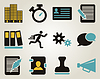 ID 3982553 | Office and bussines icon set | Klipart wektorowy | KLIPARTO