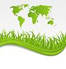 Natur Hintergrund mit Karte der Erde und Gras