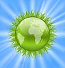 Icon Erde mit Gras, Umwelt Symbol