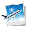 Bilderrahmen mit Flugzeug