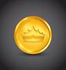 Złote monety z heraldyczny korony | Stock Vector Graphics