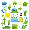 Reihe von grünen Ökologie Icons (2)