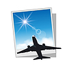 Bilderrahmen mit Flugzeug und Himmel